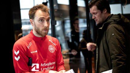 Pressemøde med DBU det danske fodboldlandshold på Hotel Clarion. Christian Eriksen