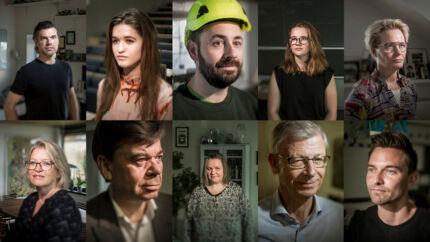 Et stort antal danskere var i tvivl om, hvem der skulle have deres kryds ved folketingsvalget. Her er ti af dem – fra den indvandringskritiske til førstegangsvælgeren og lederen.
