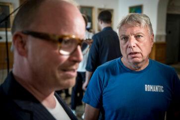 Rasmus Nordqvist og Uffe Elbæk fra Alternativet satte dagsordenen for klimaet, men det lykkedes ikke at overbevise vælgerne. (Foto: Mads Claus Rasmussen/Ritzau Scanpix)