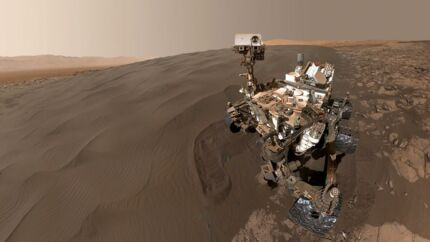 NASAs Mars-robot Curiosity blev opsendt d. 26. november 2011 og landede i Gale-krateret på Mars d. 6. august året efter. Siden har den lille robot gjort store opdagelser.
