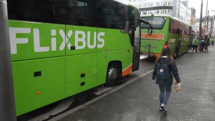 En flixbus fotograferet i Berlin.