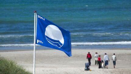 Arkiv: Det blå flag vejrer blandt andet over Tversted Strand.