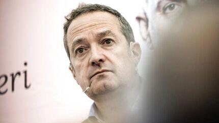 Fra Folkemødet i Allinge på Bornholm, hvor Danske Banks nye frontduo, topchef Chris Vogelzang og bestyrelsesformand Karsten Dybvad, svarede på spørgsmål. Torsdag gjaldt det halvårsregnskabet.