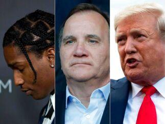 »Som det er ofte er tilfældet med Trump er det fristende at se hans udfald mod Sverige og hans støtte til en rapstjerne som et stykke letfordøjeligt reality-TV. Men der er langt mere på spil, når Trump lægger pres på den svenske regering for at blande sig i anklagemyndighedens affærer.« (Photos by AFP). (Foto: DAVID MCNEW, THOMAS SAMSON, ROBERTO SCHMIDT/Ritzau Scanpix)