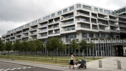 Ørestad Syd har både træer, børnefamilier og ikonisk arkitektur – her 8Tallet af BIG – men der er stadig plads til udvikling.