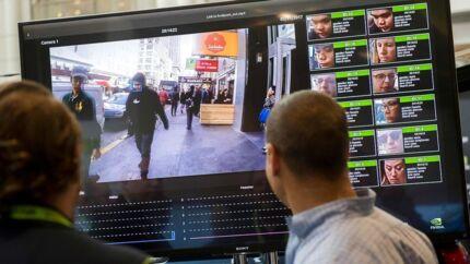 I USA bruger ordensmagten flere steder software til ansigtsgenkendelse. Her ses en demonstration ved en teknologikonference i Washington D.C.