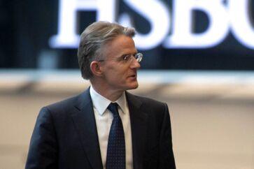 Storbanken HSBC kæmper med det globale marked, og det får nu topchef, John Flint, til at forlade posten efter kun 18 måneder. Foto: Stefan Rousseau/POOL/AFP/Ritzau Scanpix