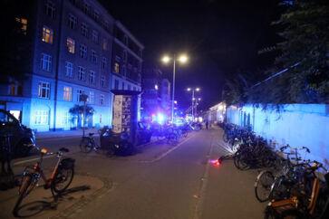 Politiindsats ved en adresse på Østbanegade på Østerbro i København, tirsdag den 6. august 2019. Tirsdag aften lød en eksplosion ved Skattestyrelsen på Østerbro.
