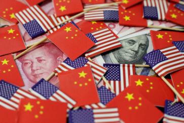 USA og Kina er stadig uenige om handel, og det skaber frygt for en recession, der hiver aktiemarkedet ned med sig. Foto: Jason Lee/Ritzau Scanpix