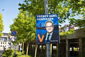 Valgplakater, Preben Bang Henriksen, Venstre, i Aalborg, 16. maj 2019.