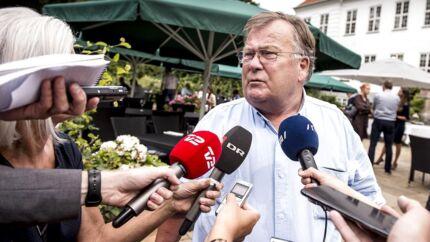 Claus Hjort Frederiksen efter Venstres pressemøde i forbindelse med sommergruppemødet på Kragerup Gods ved Ruds Vedby, fredag den 9. august 2019.
