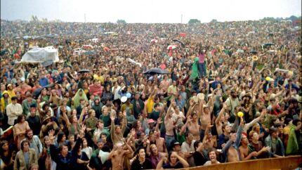Masserne på Woodstock.