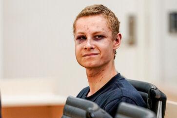 Philip Manshaus i retten den 12. august.