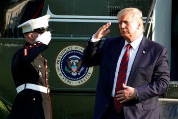 USAs præsident, Donald Trump, bekræftede, at han overvejer at sende et købstilbud til den danske regering vedrørende Grønland. REUTERS/Yuri Gripas