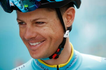 epa07696971 Denmark's Jakob Fuglsang of Astana Pro team looks on prior to a training session on the eve of the start of the 106th edition of the Tour de France cycling race, in Brussels, Belgium, France, 05 July 2019. This year's Tour de France will start in Brussels on 06 July 2019. EPA/YOAN VALAT