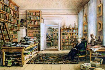 Den modne Alexander von Humboldt hjemme på Oranienburger Strasse i Berlin.