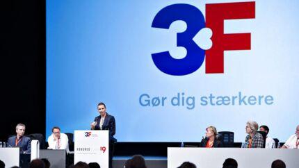 Medlemstallet falder, men antallet af ansatte stiger i fagforbundet 3F. Her taler statsminister Mette Frederiksen ved 3Fs kongres i Aalborg Kongres og Kulturcenter 26. september.
