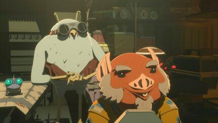 Figurerne Flix og Orka. De to væsener er af en ubestemmelig rumart. Skuespillerne Jim Rash og Bobby Moynihan lægger stemme til parret. Tanken hos publikum om, at de er bøsser, opstod allerede i første sæson af serien.