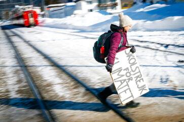 Det er blandt andet på grund af svenske Greta Thunberg, at folk skærer ned på flyveturene. Arkivfoto.