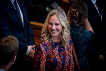 Radikales Ida Auken til Folketingets åbning på Christiansborg, tirsdag den 1. oktober 2019.