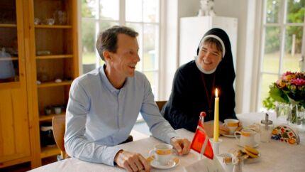 Prins Joachim på TV-optagelse før premieren på de seks programmer på DR K, hvor han zoomer ind på de værdier, der har været med til at forme Danmark. Her handler det om tro.