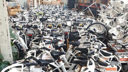Bycykler på værksted.