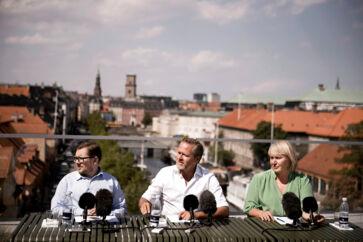 Simon Emil Ammitzbøll-Bille, daværende formand Anders Samuelsen og Christina Egelund ved et pressemøde for Liberal Alliance sidste år. Af de tre blev kun Simon Emil Ammitzbøll-Bille valgt til Folketinget.