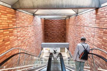 Enghave Plads metrostation. Et af de nye stop på den støj-kritiserede Cityring.