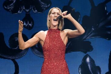 """Canadian singer Celine Dion performs on the opening night of her new world tour """"Courage"""" at the Videotron Centre in Quebec City, Quebec, on September 18, 2019. (Photo by Alice Chiche / AFP)"""
