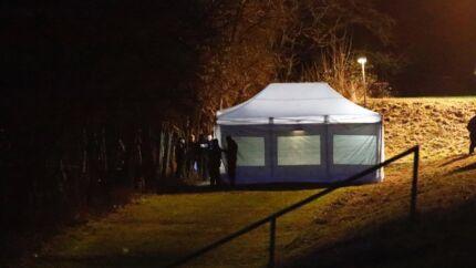 Københavns Politi til stede i Brønshøj tirsdag, hvor man har fundet den efterlyste norske familiefar Ragnar Haug død.