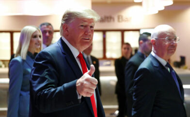 Præsident Donald Trump var den ubestridte hovedperson i Davos, hvor han blev ledsaget af sin datter og rådgiver, Ivanka Trump.