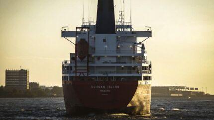 Lørdag 15. februar opbragte politiet »Duncan Island«, som har smuglet kokain ind i dansk farvand. Onsdag frigav politiet skibet. Arkivfoto.