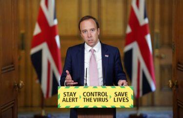 Den britiske sundhedsminister, Matt Hancock, fortalte torsdag på et pressemøde, at 17 procent af Londons indbyggere muligvis allerede har haft coronavirussen – på trods af nedlukning og strenge coronarestriktioner.