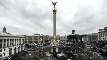 Uafhængighedspladsen i Kiev, som den ser ud i dag.