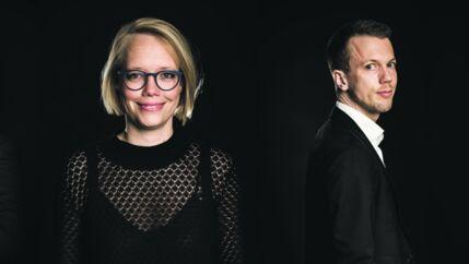 Emilie Juel Christensen, Pension Danmark, og Thomas Kofoed, Netcompany, var blandt de udvalgte talenter i 2017.