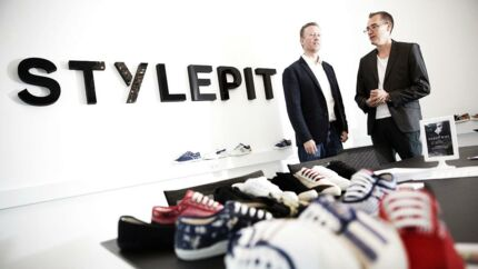 Fremtiden er usikker for netbutikken Stylepit, som måske snart er en del af Bestseller-koncernen. På billedet ses de to stiftere og fætre Christian Kusk og Nicolai Kærgaard, som ikke længere har kontrollen med selskabet.