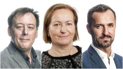 Fra venstre Søren Schauser, Vibeke Wern og Jakob Steen Olsen