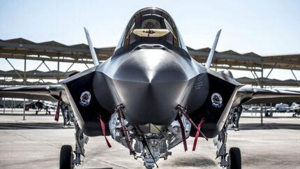 F35 kampfly på Luke Air Force Base i Arizona i USA. (Foto: Mads Claus Rasmussen/Scanpix 2018)
