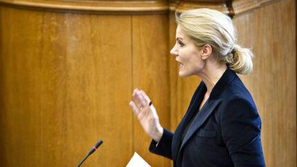 Statsminister Helle Thorning-Schmidt under spørgetimen tirsdag d. 14. april 2015 i Folketinget. (Foto: Nils Meilvang/Scanpix 2015)