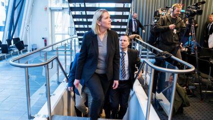 Det var en tydeligt bitter Sylvi Listhaug, der talte til pressen efter sin afgang som justitsminister tirsdag,