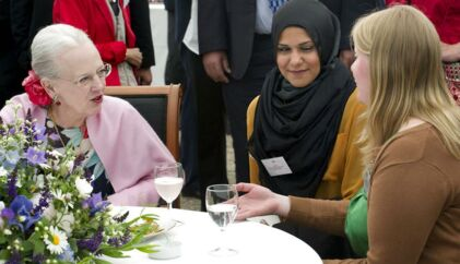 Dronning Margrethe tog i juni imod gæster fra Det Frivillige Danmark - nu gælder det iværksætterne.