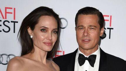 ARKIVFOTO fra 5. november 2015 af Angelina Jolie og Brad Pitt.