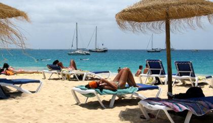 Badeliv på øen Sal, der er en del af Kap Verde-øerne.