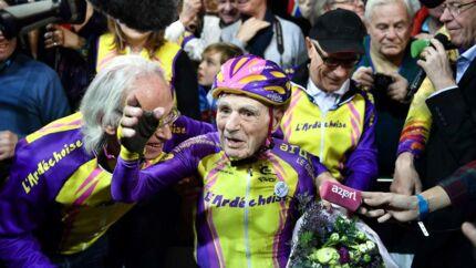Robert Marchand er verdens hurtigste på cykel på over 105 år.