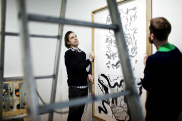 Gallerist Christian Andersen til brancheanalysen af gallerier.
