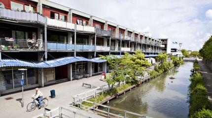 """Bygninger i Albertslund, som for energirenoveringsprojektet """"Albertslundkonceptet"""" har vundet prisen som """"Nordisk Energikommune 2011"""""""