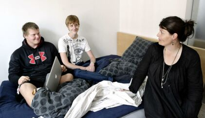 Lulu Heiberg med sønnerne Andreas og Phillip.