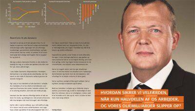 I et åbent brev til danskerne argumentere statsministeren for velfærdsreformer i en række dagbladsannoncer.