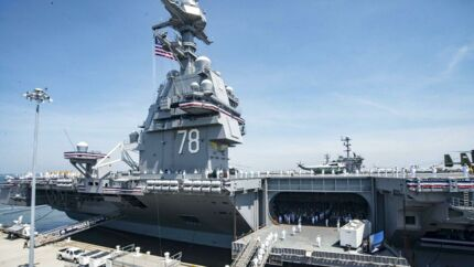 USS Gerald R Ford.