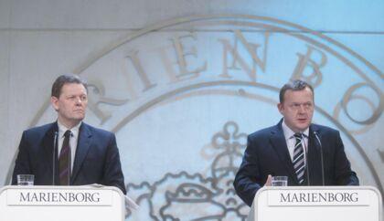 Lars Barfoed (K) og Lars Løkke Rasmussen (V) fremlægger regeringens reformplan på Marienborg.